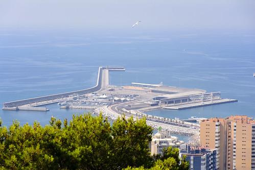 Vista área del puerto de Málaga