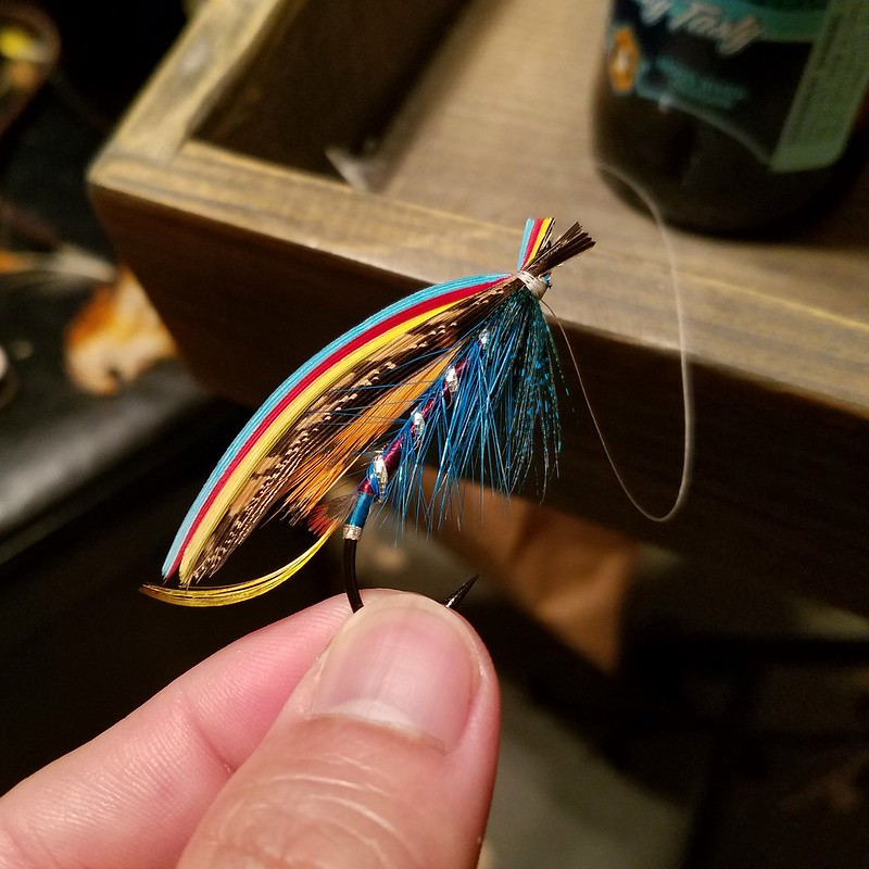 Silver Doctor  1//0 Steelhead Flies Salmon hairwing