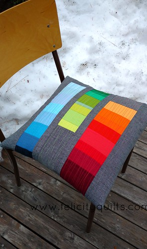 Rainbow gradient pillow front