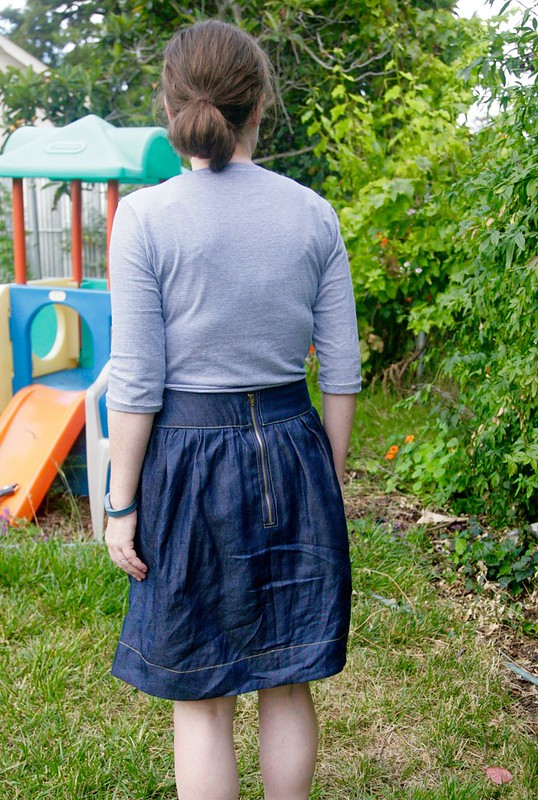 Brumby Skirt and Thrift Store refashion (using the Plantain Top)