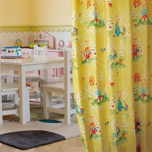 Bear's Life(獨家) 可愛小熊 熊家族日常生活 防光(遮光)窗簾布 DA1290144