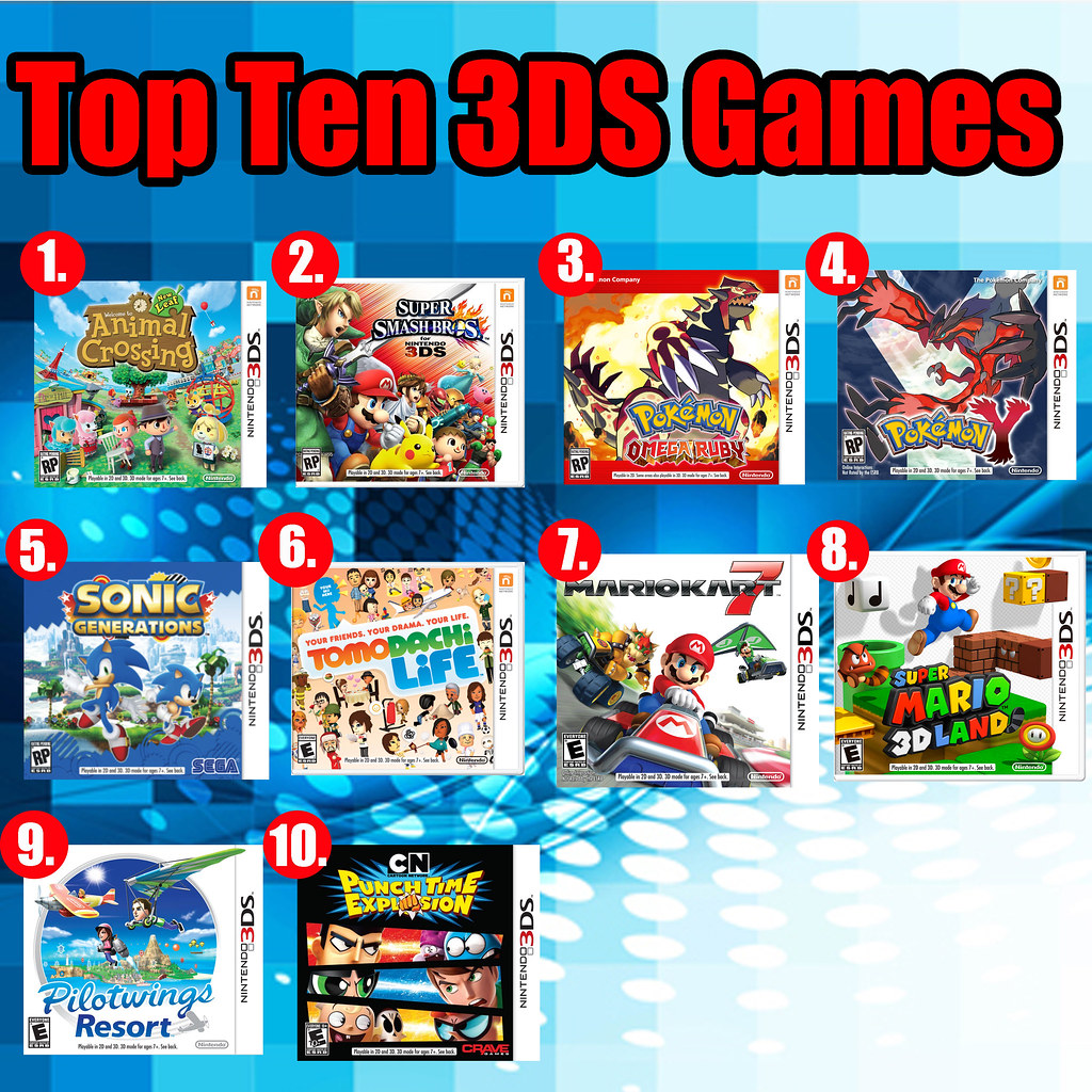 Top Ten 3DS Games | Here are my ten favorite games from ...