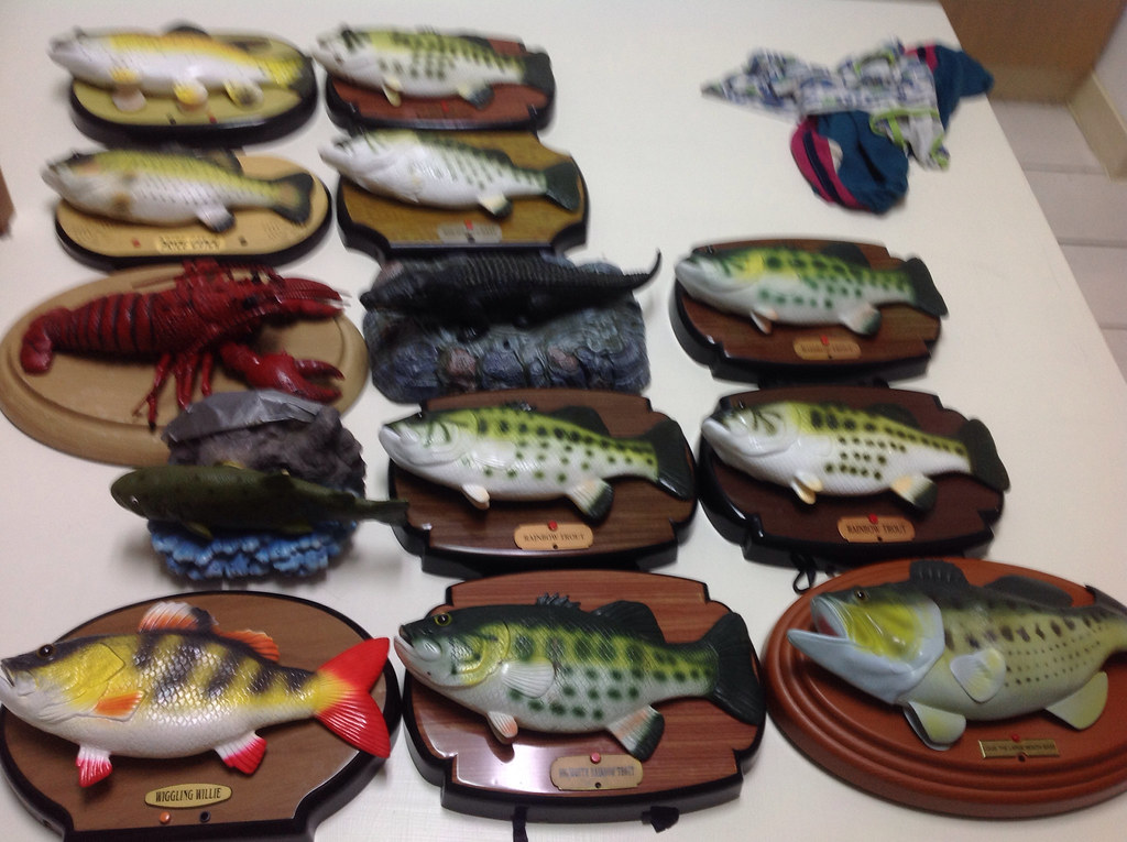 My non gemmy singing fish rocky rainbow trout big mouth for Talking bass fish