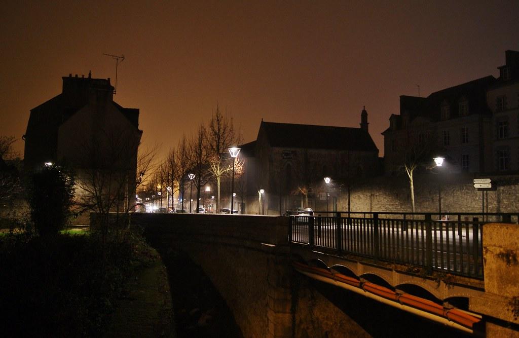 Pontivy, de nuit