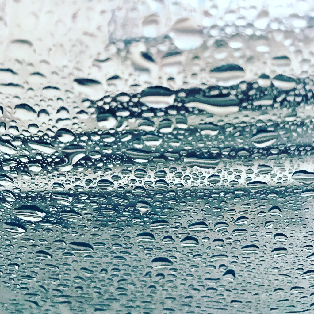 rain drops on the windshield