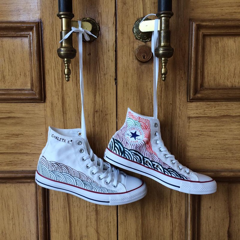 Customized Converse Shoes x Miss Universe 2016
