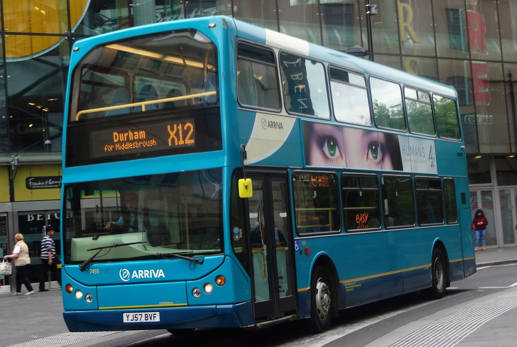 ... Arriva North East: 7455 / YJ57 BVF | by Jimmi's Transport Photos