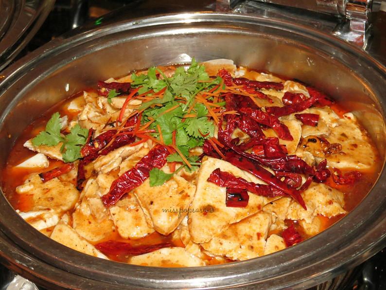 Steamed Butter Fish in Sze Chuan Mala sauce