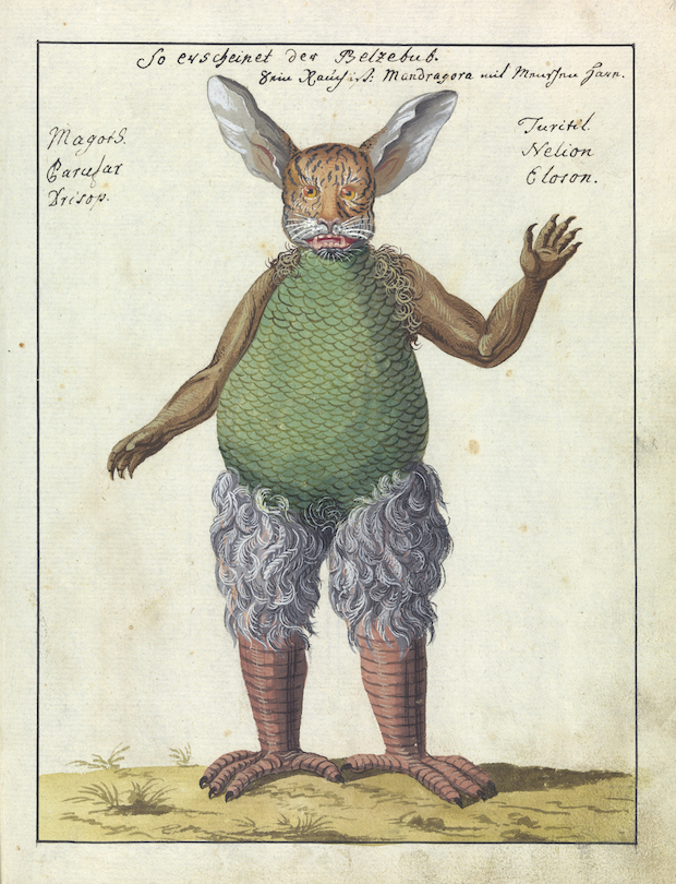 L0076362 Illustration of Beelzebub, MS 1766