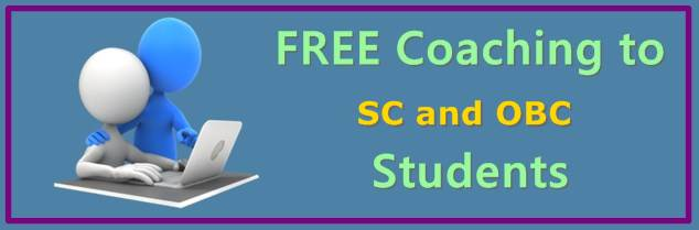 100% free coaching to SC and OBC Students