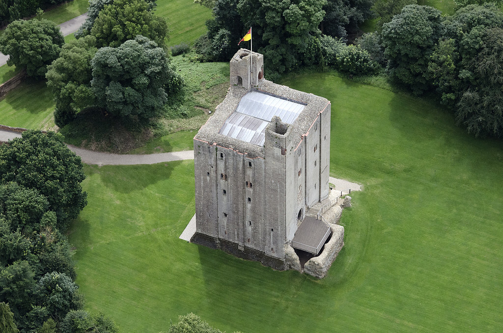 hedingham castle aerial image the best preserved keep in