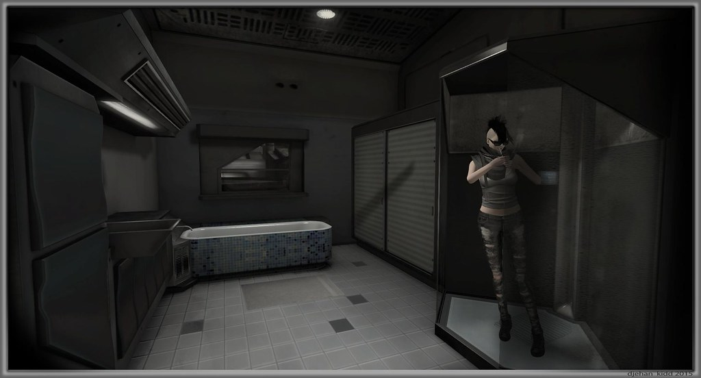 Cyberpunk In Bathroom Having A Typical Virtual Reality Mom Flickr