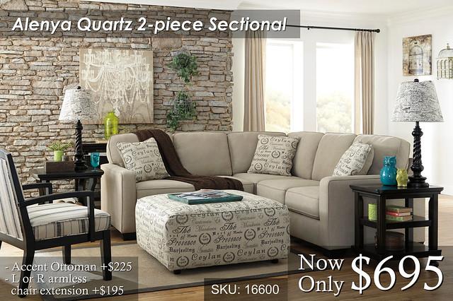 Alenya Quartz Sectional