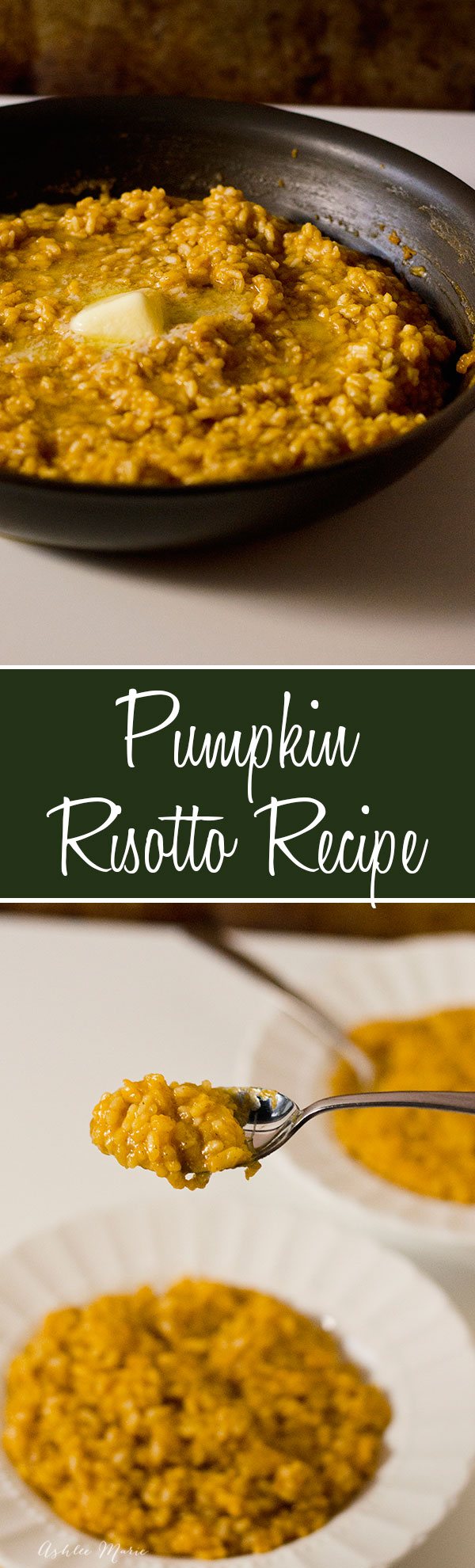 tutorial for a pumpkin risotto, perfect for the fall