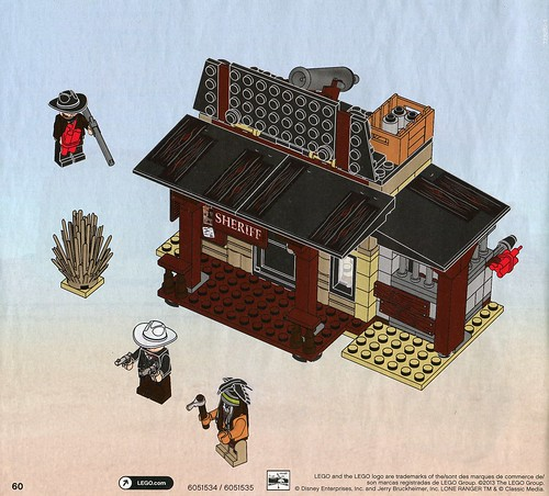 LEGO The Lone Ranger 79109 Colby City Showdown ins02
