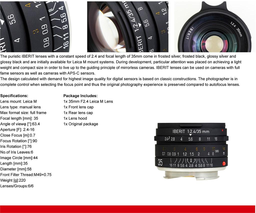 IBERIT 35mm F2.4 Full Frame Camera lenses for Leica M Moun… | Flickr