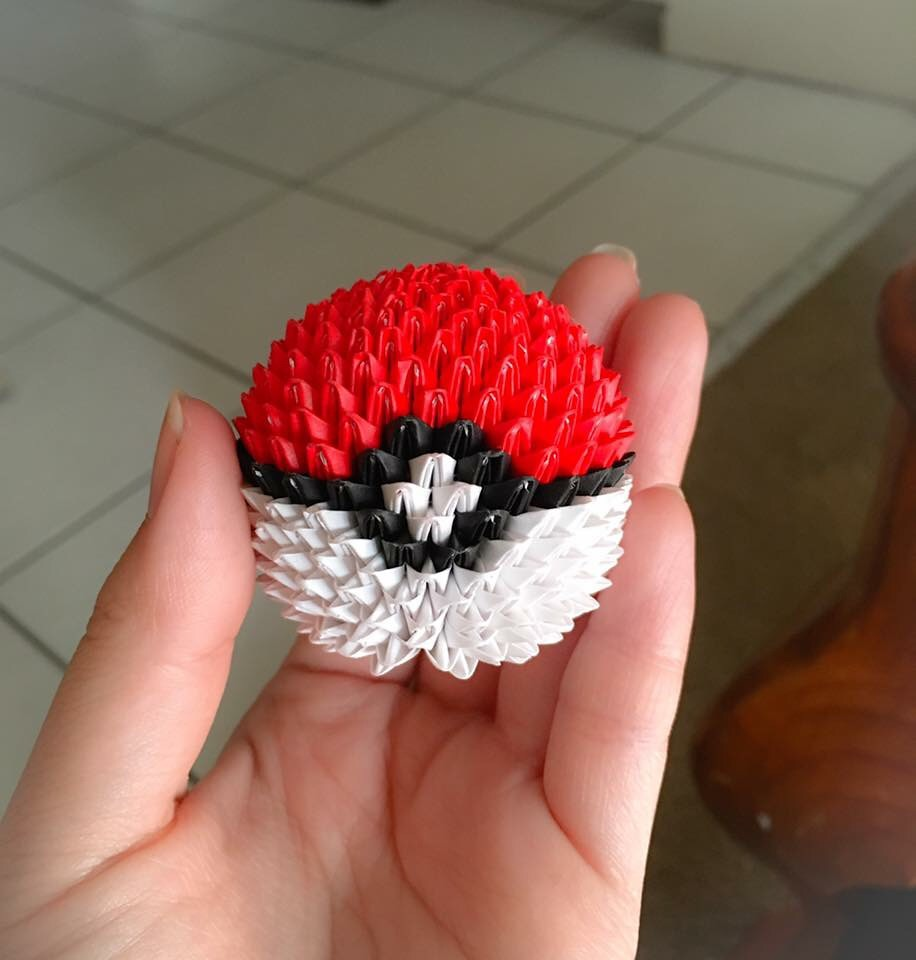 Mini Pokemon Pokeball Origami