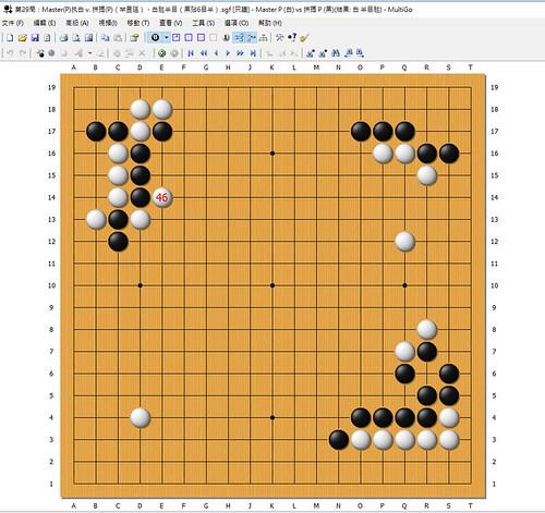 第29局:Master(P)执白 v. 拼搏(P)(芈昱廷),白胜半目(黑贴6目半)