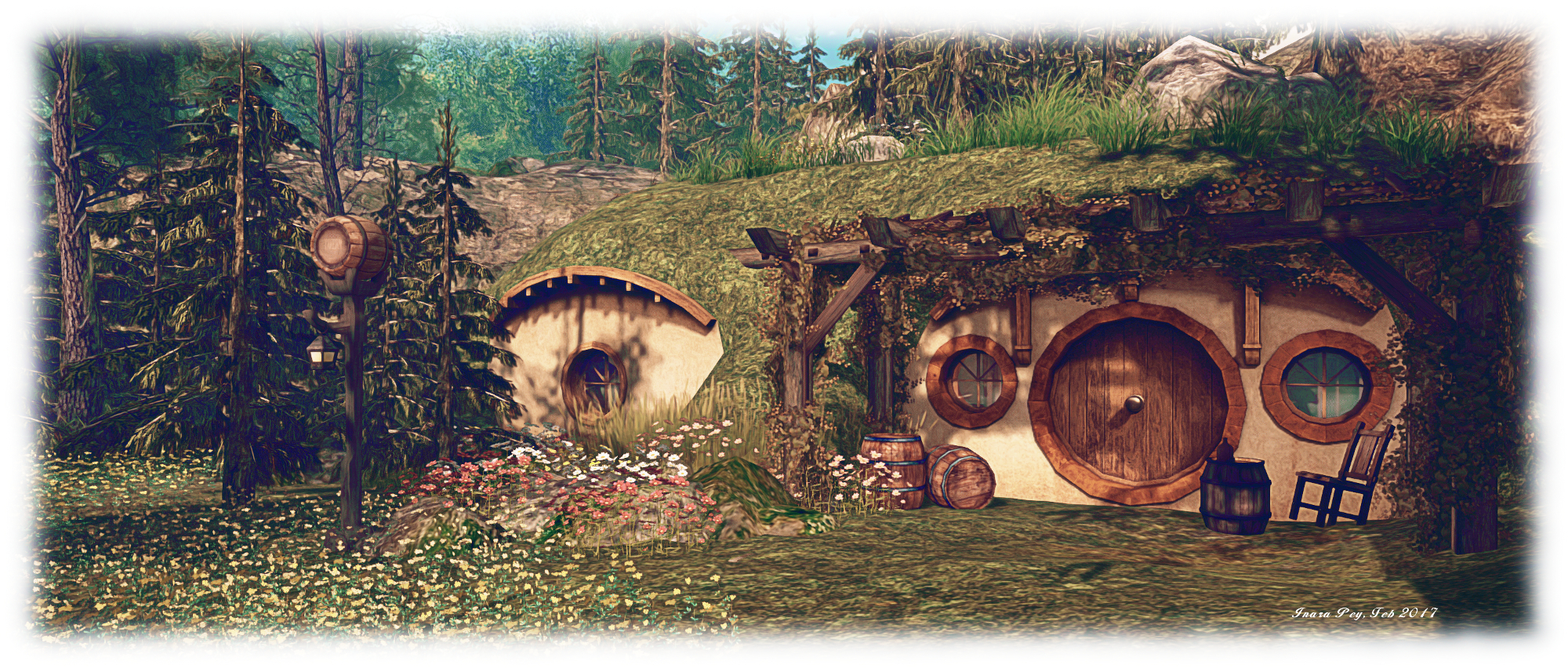 Hobbiton, Dragon Island; Inara Pey, February 2017, on Flickr