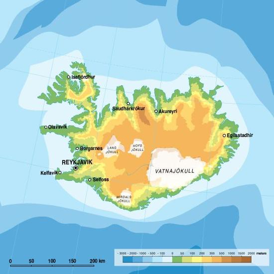 Iceland, topographic map | Iceland is located in Northern Eu… | Flickr