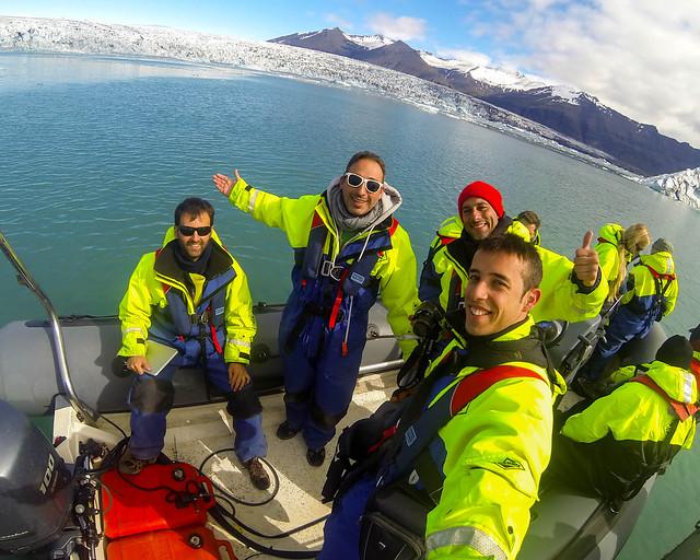 Excursión en barca por la laguna de Jökulsárlón
