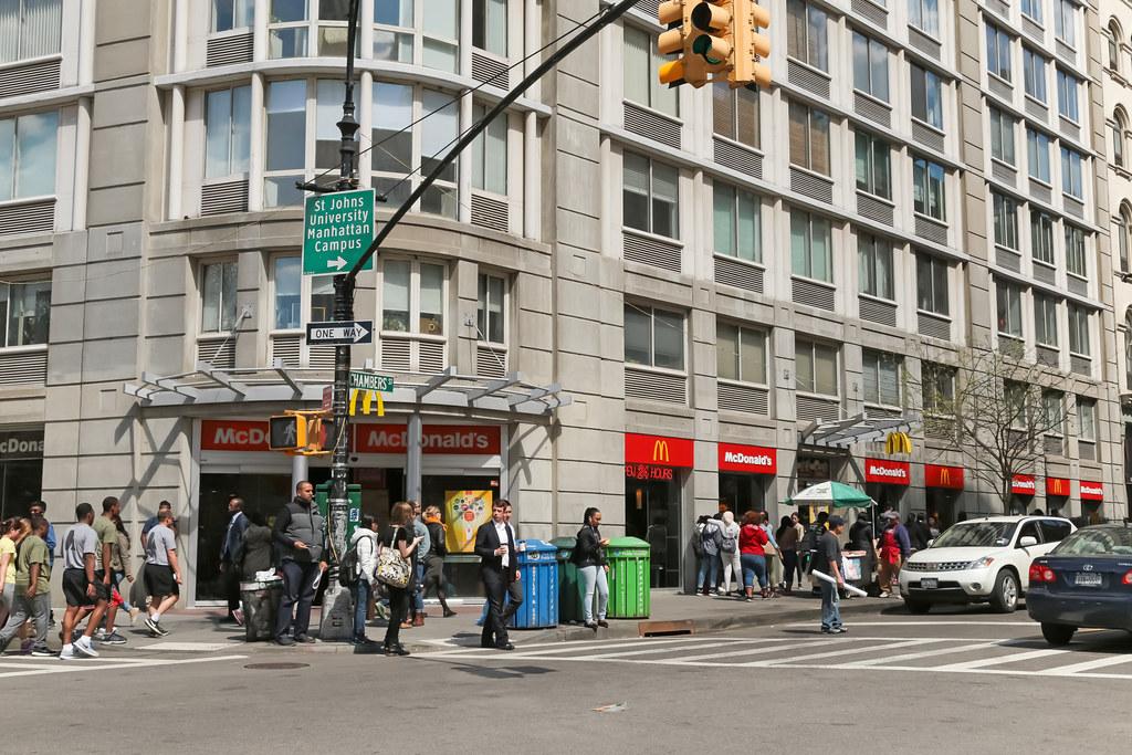 Mcdonald S New York City Tribeca Usa Chambers Street