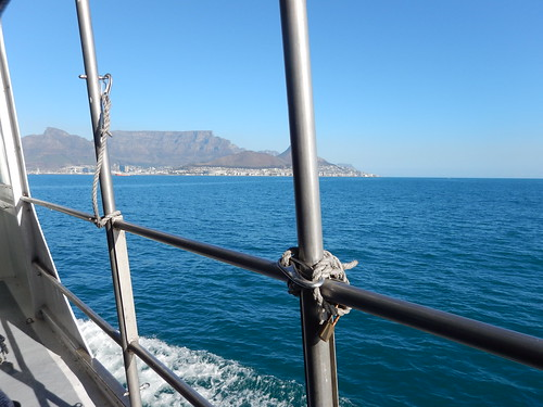 Views on the boat ride, Robben Island