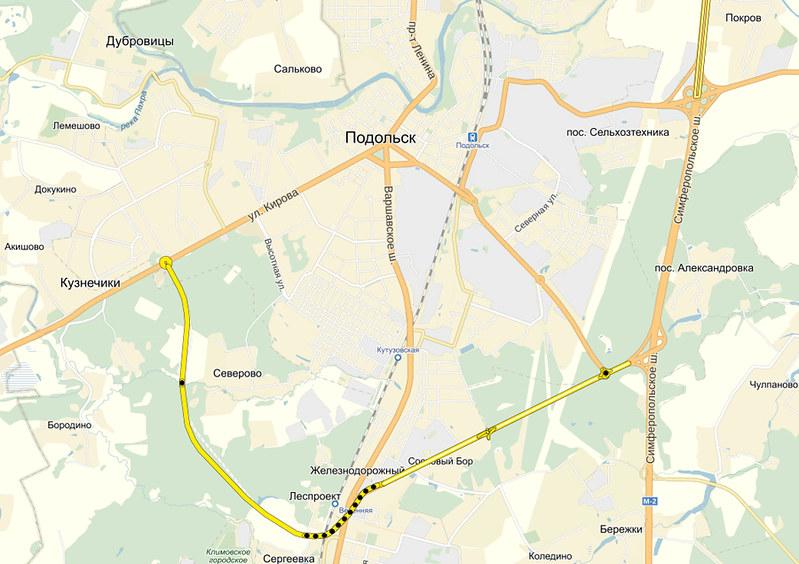 Подольск схема дороги объездной