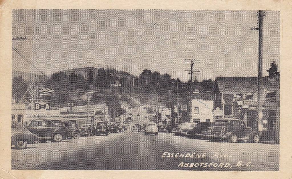 Postcard Abbotsford Bc C  Essendene Ave Abbotsfor Flickr