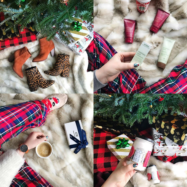 Christmas Flat Lays - Plaid Pajamas
