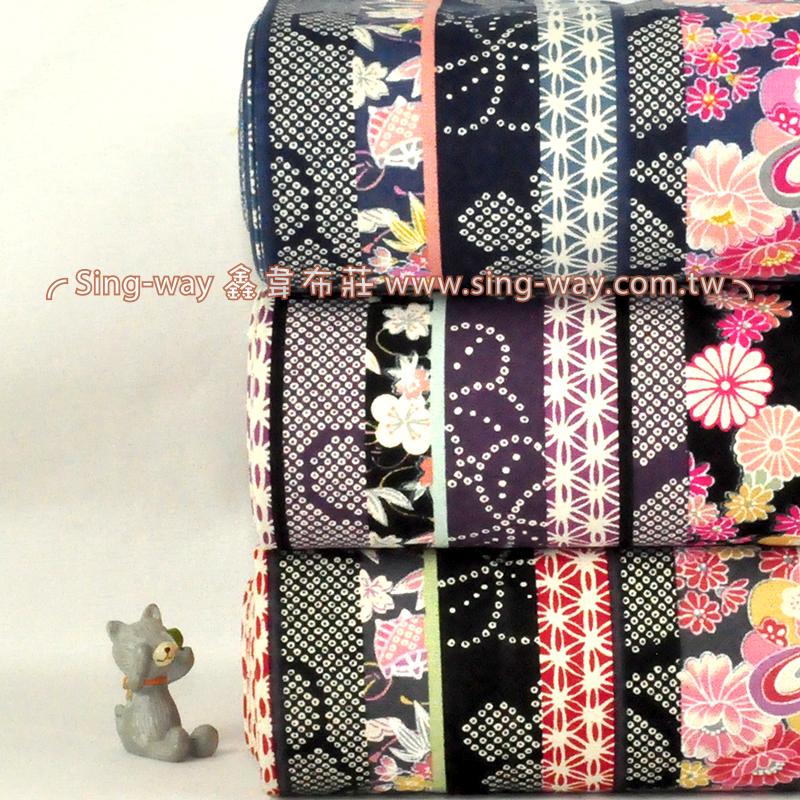 日式櫻花 3尺7 日式拼布花卉 手工藝DIy拼布布料 CF550549