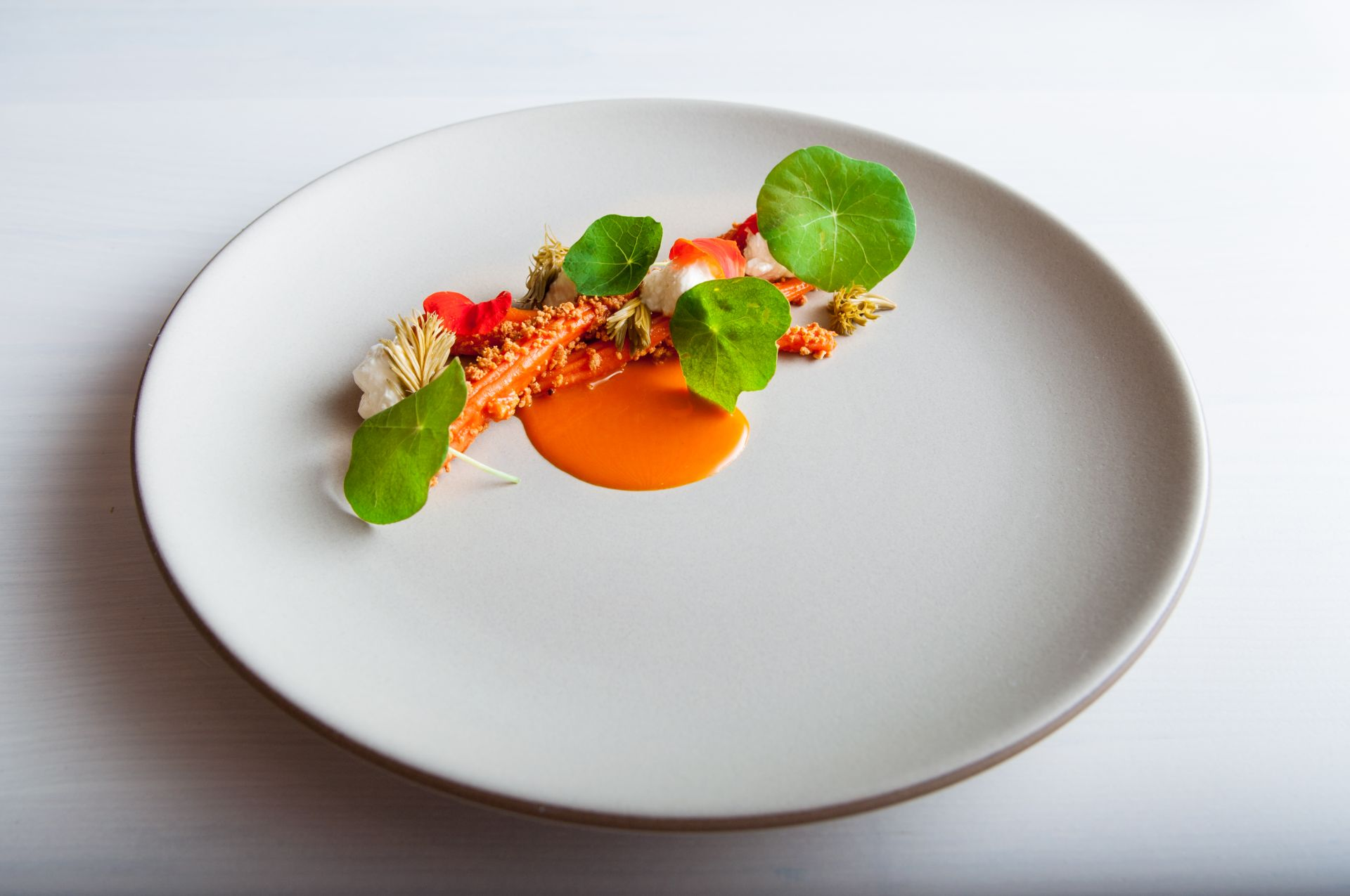 In Situ Carrot, Sour Curd, Pickled Pine_Matt Orlando_Amass