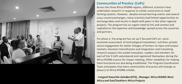 Africa RISING phase2: Communities of Practice and program collaboration and learning