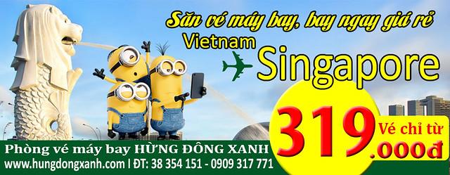 vé máy bay giá rẻ Việt Nam - Singapore