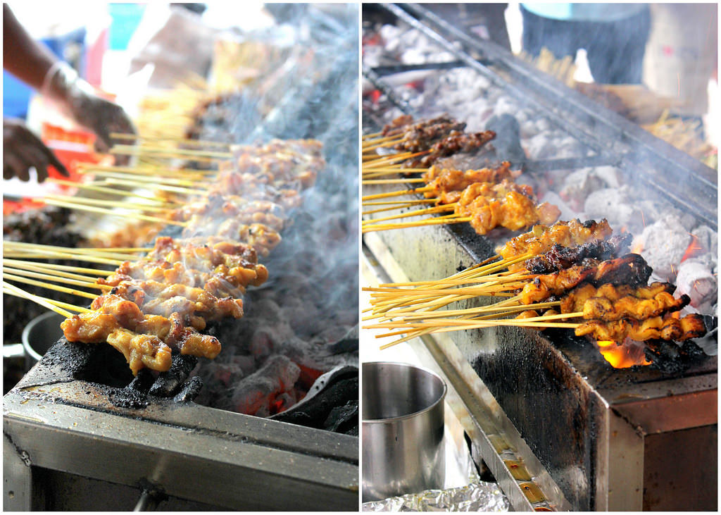Hawker Centre in Singapore: East Coast Lagoon Food Village Satay