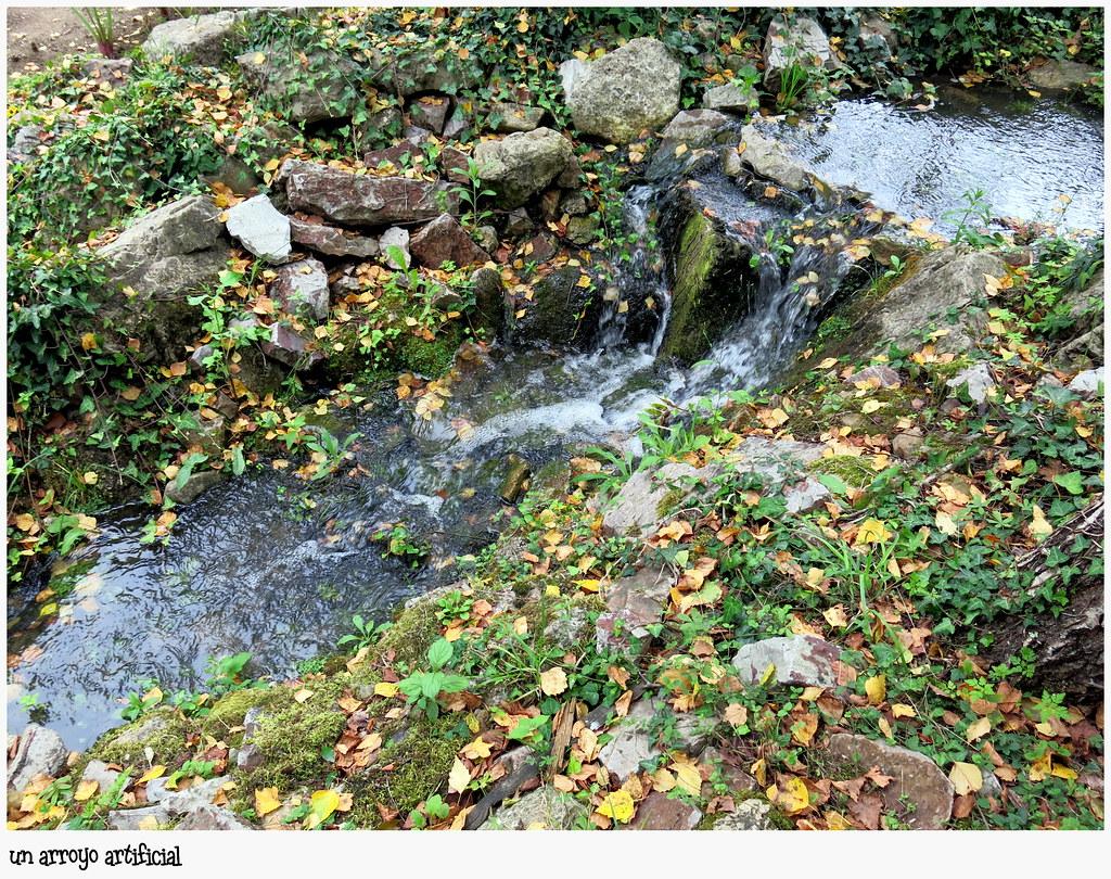 Un arroyo en el Jardín Botánico Atlántico de Gijón