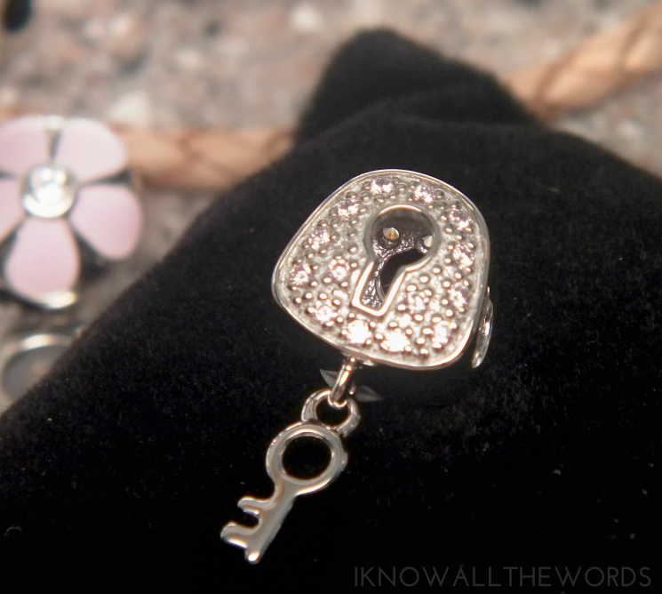 soufeel review Pink Lock My Heart Dangle Charm 925 Sterling Silver