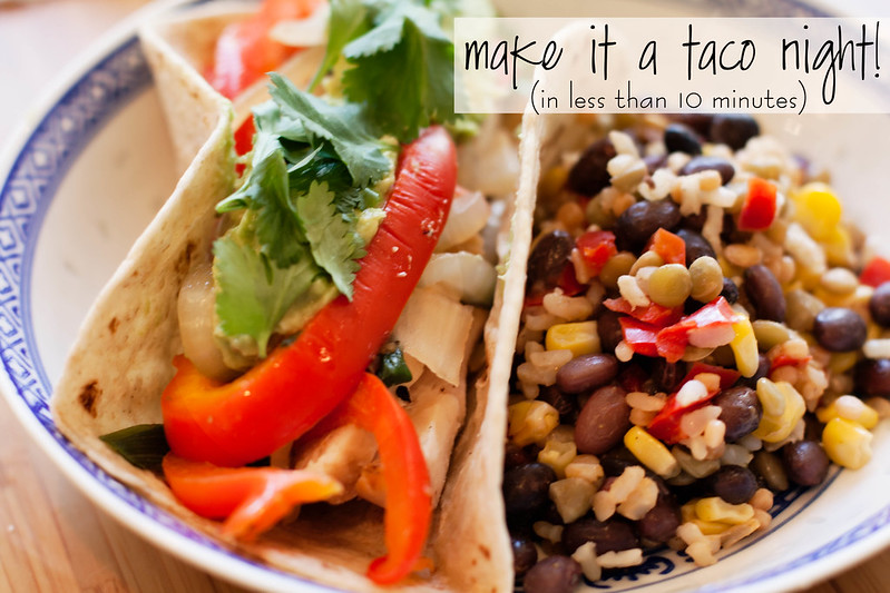 cute & little blog | taco night 10-minute meal solution #fastfreshfilling