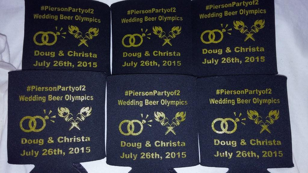 odysseycustomdesigns personalized wedding favor koozies by odysseycustomdesigns