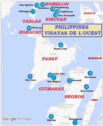 Trajet-Visayas de l'ouest