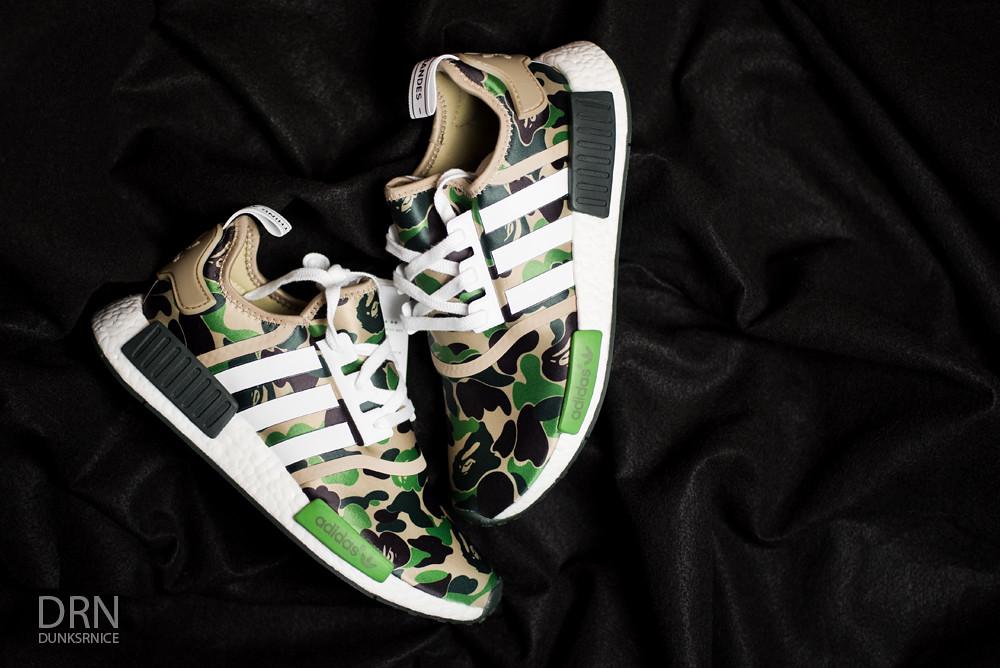 Bape Green Camo Adidas NMD.