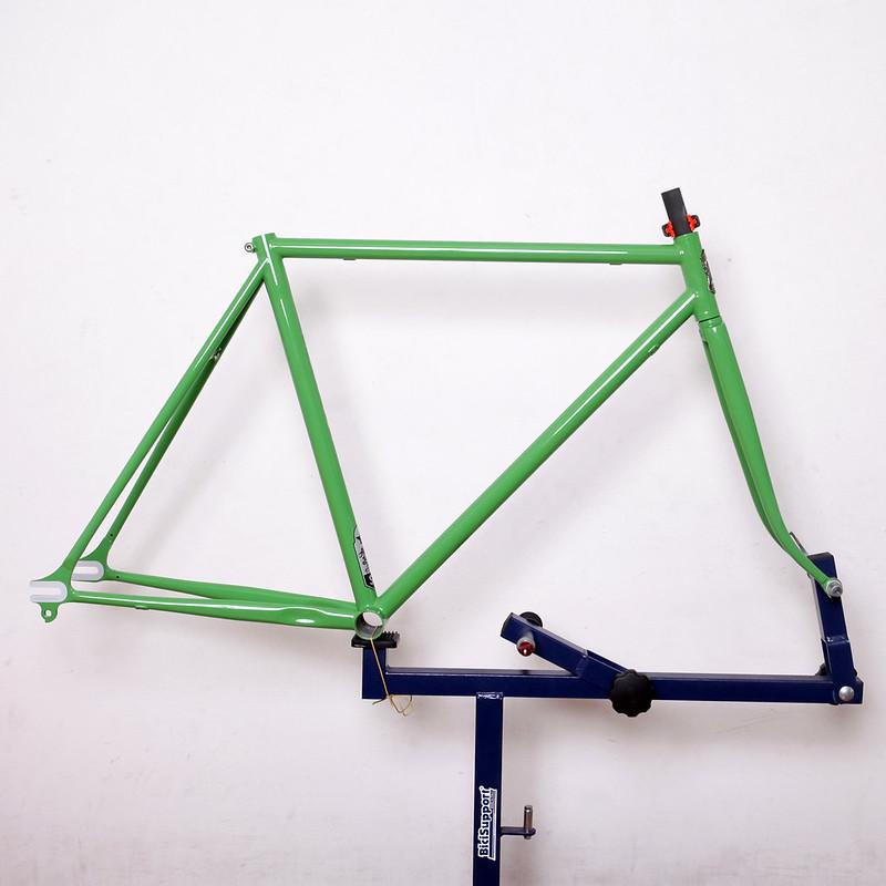Steel Era Frame Set Repainted by Swamp Things.
