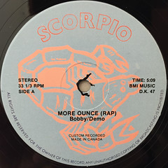 BOBBY DEMO:MORE BOUNCE(RAP)(LABEL SIDE-A)