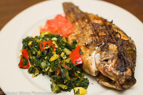 Grilled Tilapia and Spinach