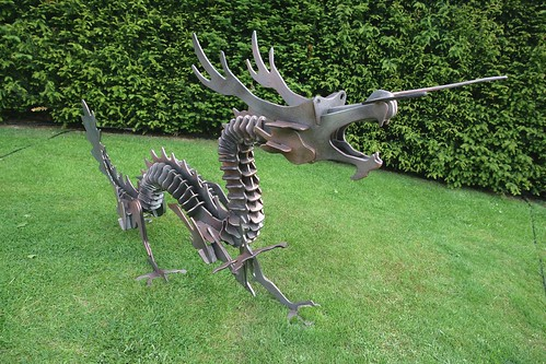Large Steel Dragon Sculpture Sculptures By Spike Fisher