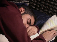 Amol asleep reading | by quinn.anya