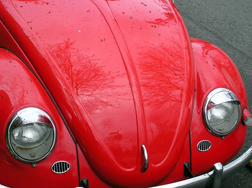 This red Bug is for sale and I covet it greatly whenever I walk past | by steena