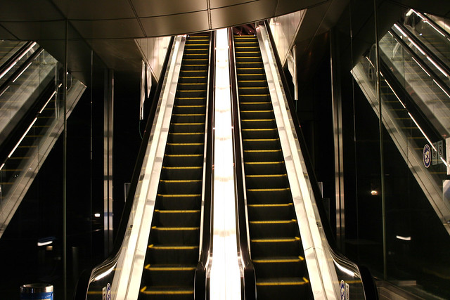 Escalator of light | Hakozakicho, Tokyo Japan | By: OiMax | Flickr - Photo Sharing!