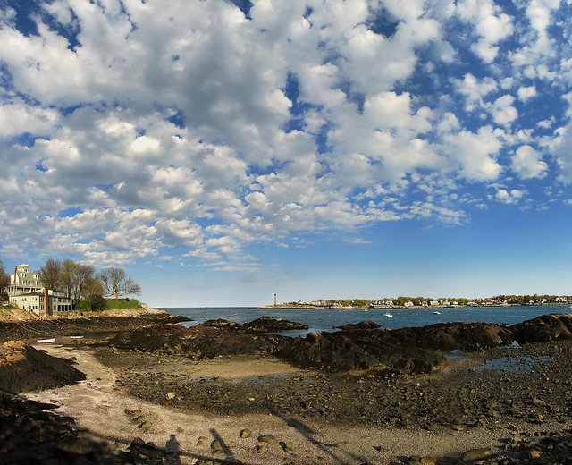 Marblehead panorama low tide flickr photo sharing - Beautiful panoramic view house to take full advantage of the scenery ...