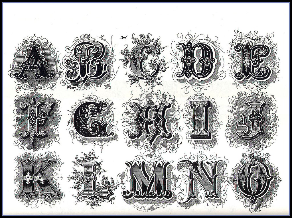 Alphabets Decorative Design